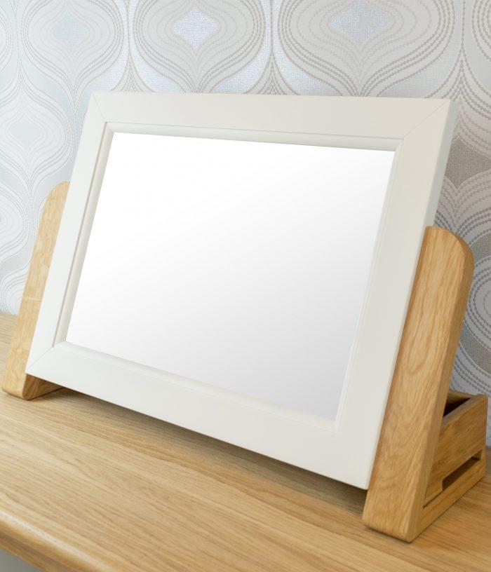 Oglindă cu ramă din lemn masiv Blanch