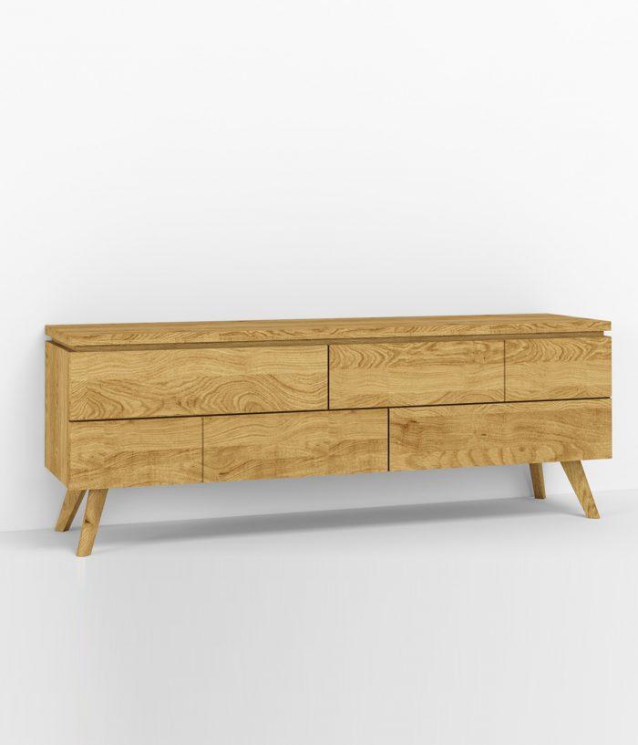 Comodă lemn masiv pentru tv