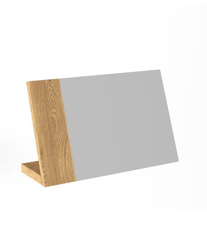 Oglindă cu suport din lemn masiv
